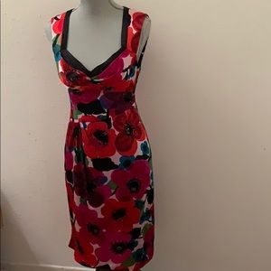 Nanette Lepore Floral Silk Dress Size 4 Small S